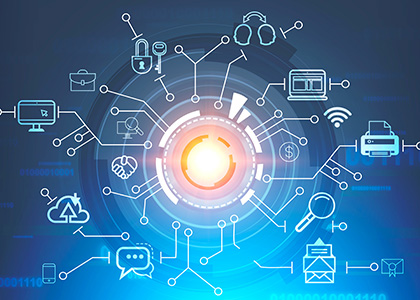 ICTソリューション、再生エネルギーイメージ